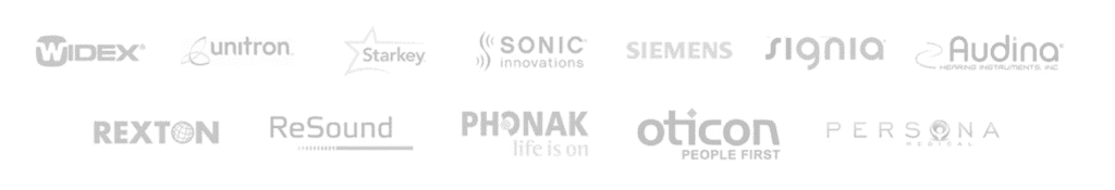 Audiology Associates Hearing Aid Providers Widex, Unitron, Starkey, Sonic Innovations, Siemens, Signia, Audina, Rexton, ReSound, Phonak, Oticon, Persona.